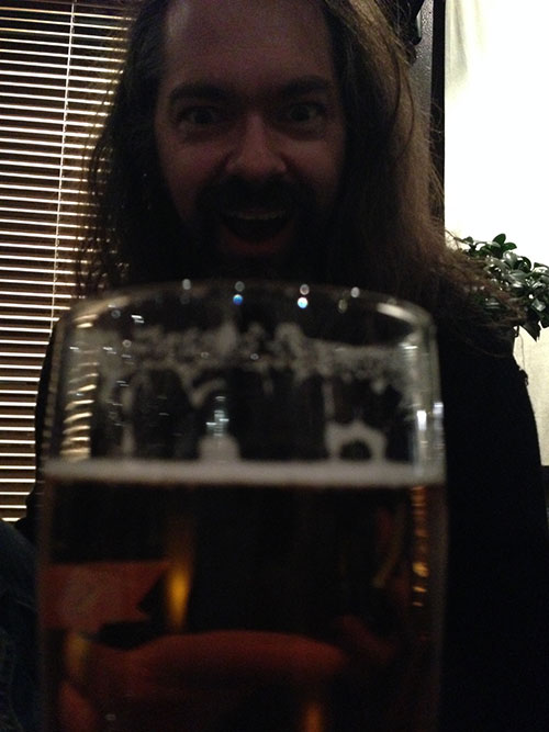 Snah and his big beer