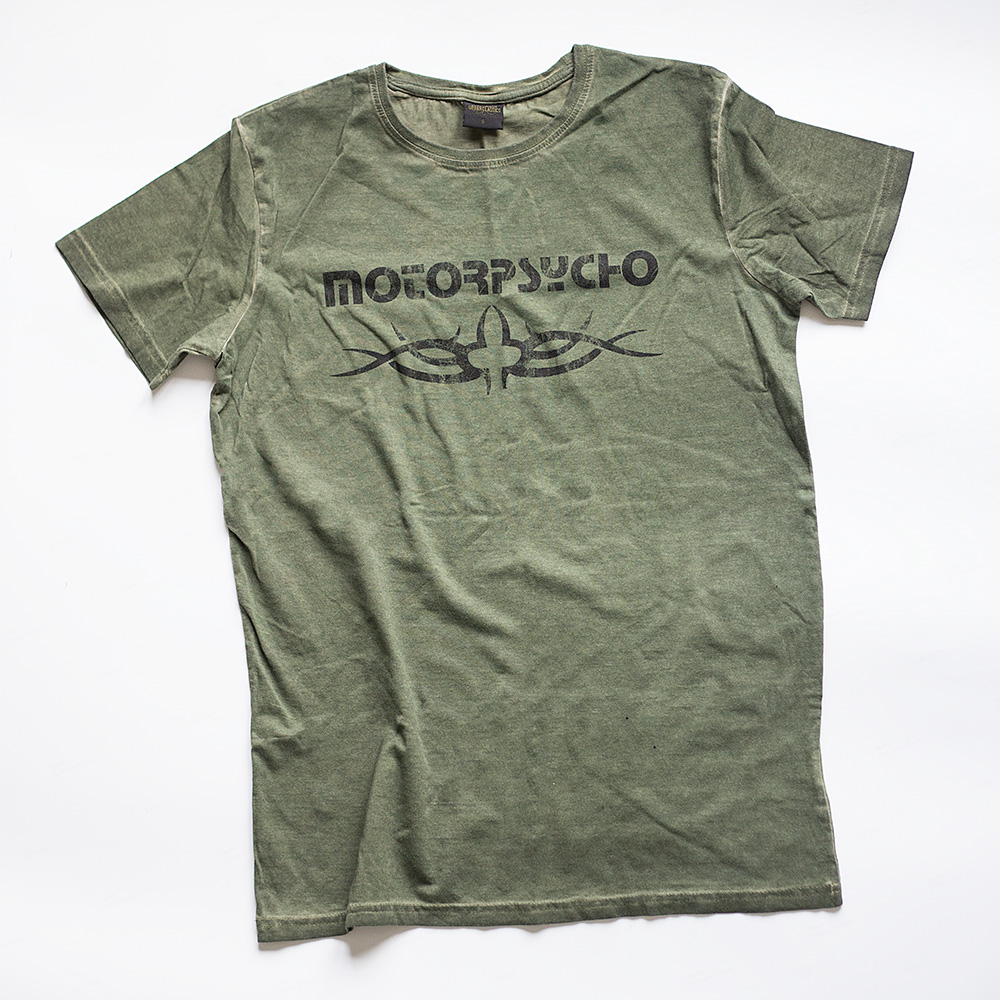 Motorpsycho t-shirt olive washed out